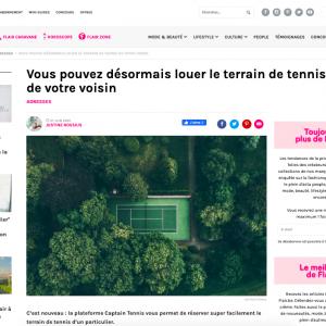 Flair - Vous pouvez désormais louer le terrain de tennis de votre voisin